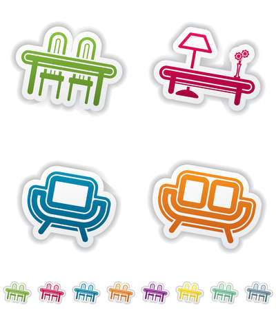 House related Objects Stock Vector - 12954194