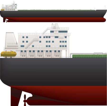 oil tanker: Oil Tanker Illustration