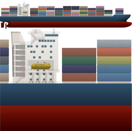 Container ship Illustration