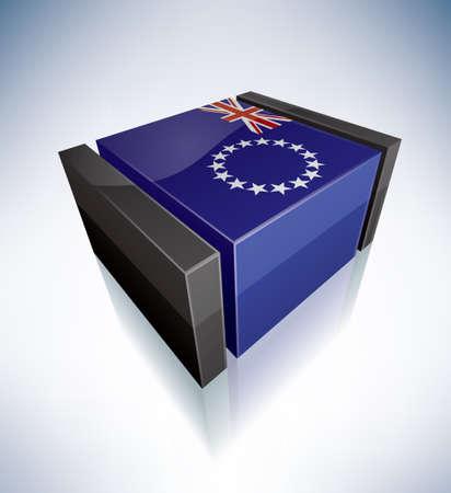 Cook Islands Vektorové ilustrace