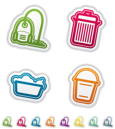 Cleaning items and other related cleaning tools Vector