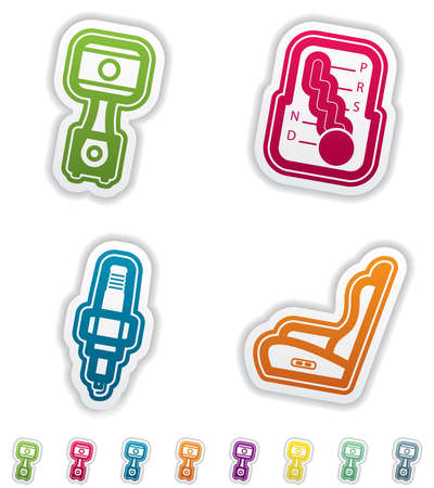 car seat: Car parts and accessories Illustration