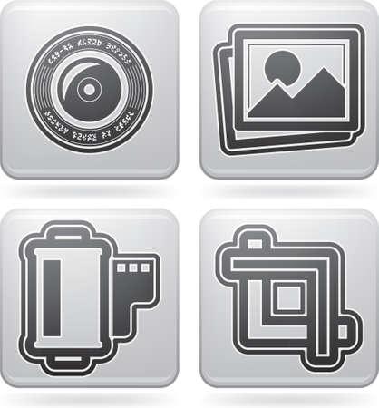 umschwung: Fotografie Werkzeuge Ausr�stung Symbole gesetzt Illustration