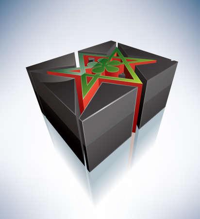 hexagram: Three-dimensional religion symbols  Unicursal Hexagram