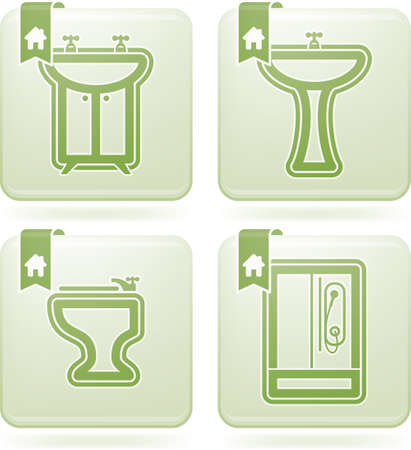 washstand: Bathroom Utensils and other related everyday things Illustration
