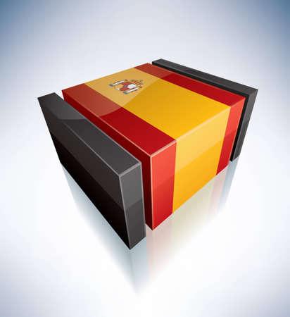 kingdom of spain: Three-dimensional Flags of Europe  Kingdom of Spain