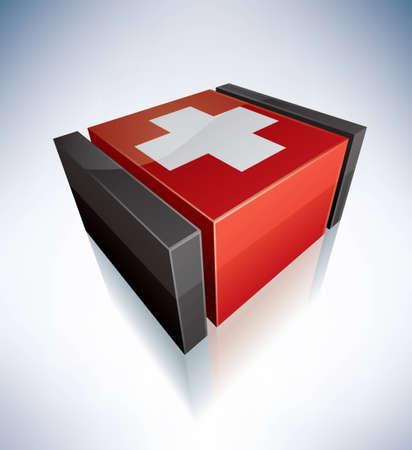 confederation: Tridimensionali Flags of Europe Confederazione Svizzera