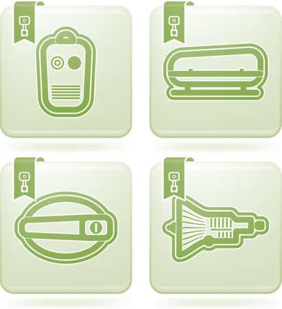 remote lock: Partes y accesorios del autom�vil Vectores