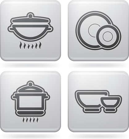 crock: Cooking utensils