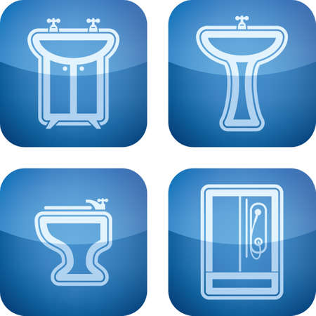 washstand: Bathroom Utensils Illustration