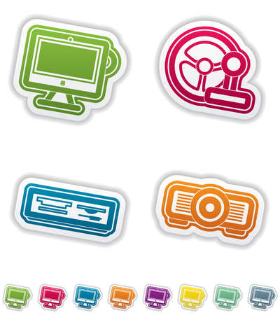Computer parts and accessories Stock Vector - 14984819