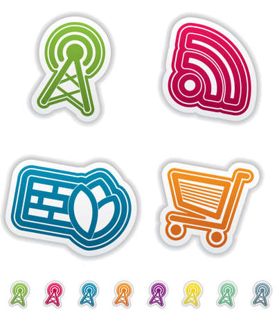 Web Icons Stock Vector - 14984857