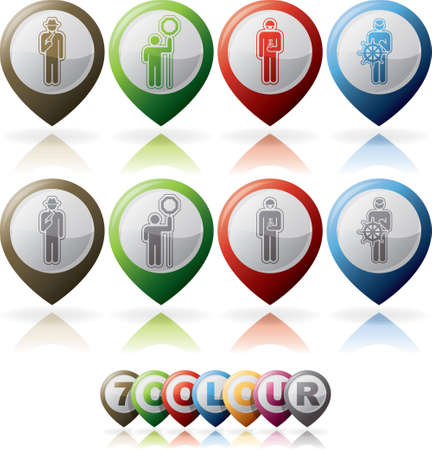 Mans occupation icons set Stock Vector - 15491879