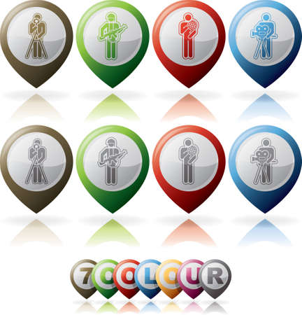 Mans occupation icons set Stock Vector - 15491878