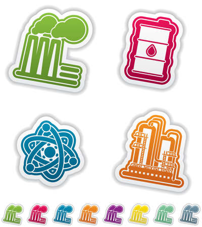 Industry   Heavy industry icons set Stock Vector - 15491887