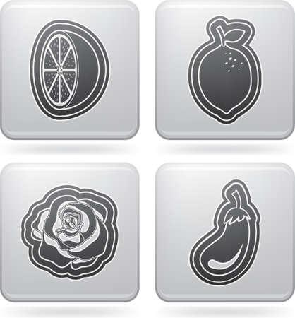 fruitage: Healthy food - fruits and vegetables Illustration