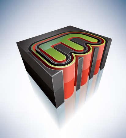 letra m: Three-dimensional de capital alfabeto letra M Vectores