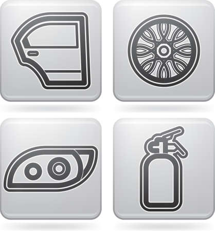 alloy wheel: Car parts and accessories Illustration