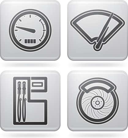 ruitenwisser: Auto-onderdelen en-accessoires Stock Illustratie