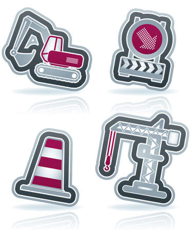 4 icons from Construction Industry theme Stock Vector - 15355632