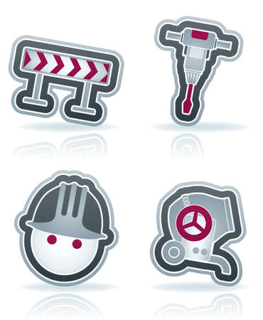 4 icons from Construction Industry theme Vector