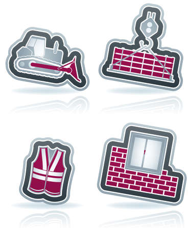 4 icons from Construction Industry theme Stock Vector - 15355604