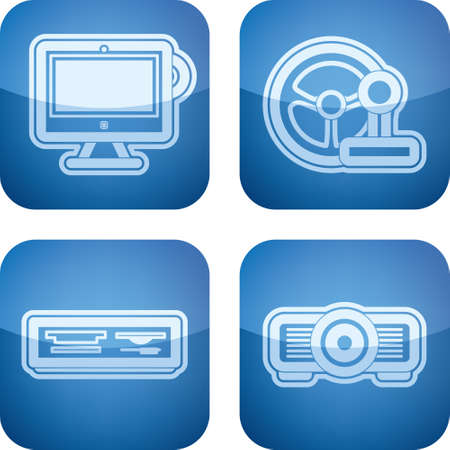 Computer parts and accessories Vector