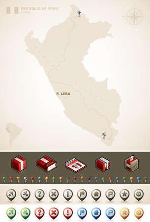 republic of peru: Republic of Peru and South America Maps