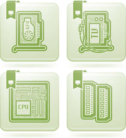 Computer parts and accessories Stock Vector - 15532762