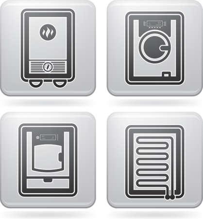 calentador: Utensilios de Ba�o Vectores