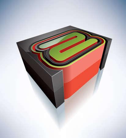 buchstabe z: Dreidimensionale Alphabet Gro�buchstaben Z