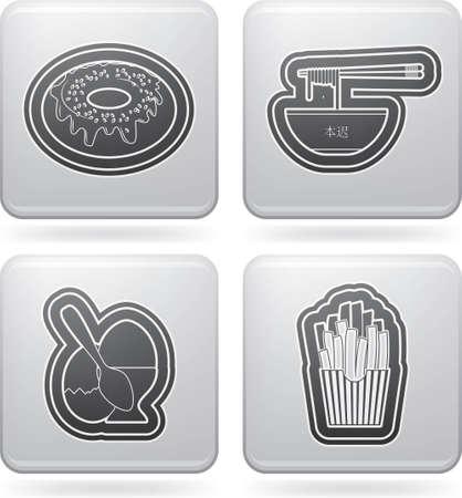 chinese fast food: Iconos de alimentos & bebidas establecer