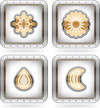 Weather Icons Set Stock Vector - 15777032