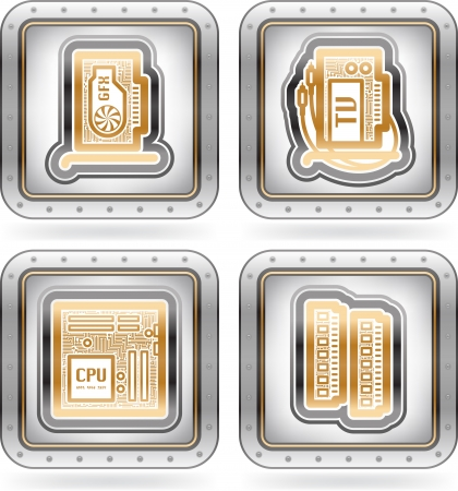 Computer parts and accessories Stock Vector - 15777048