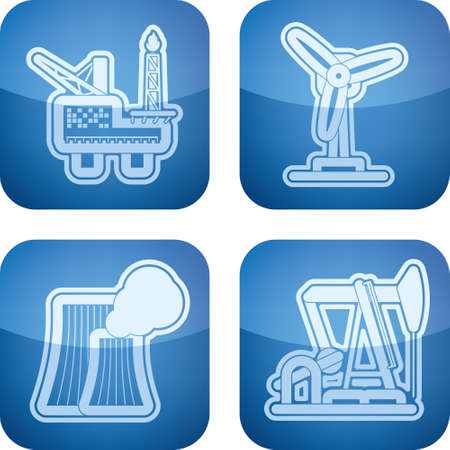gusher: Industry   Heavy industry icons set