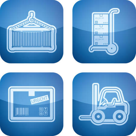 Industry   Heavy industry icons set Stock Vector - 15776865