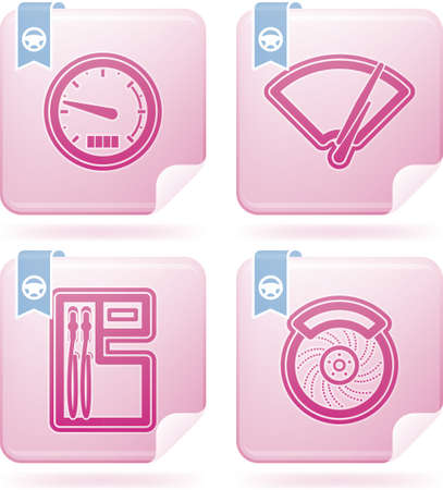 windscreen: Car parts and accessories Illustration