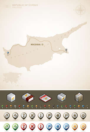 Cyprus and Asia maps Vector