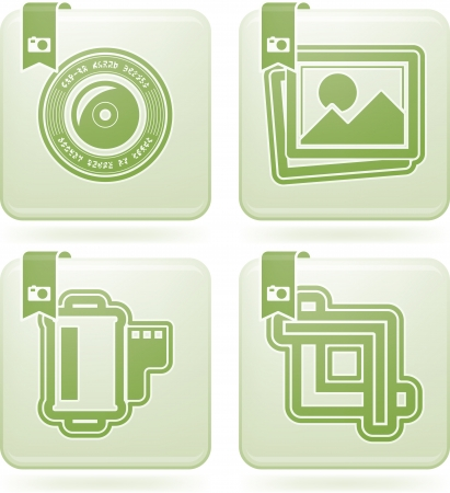 Photography tools   equipment icons set Stock Vector - 15776485