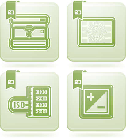 olivine: Photography tools   equipment icons set Illustration