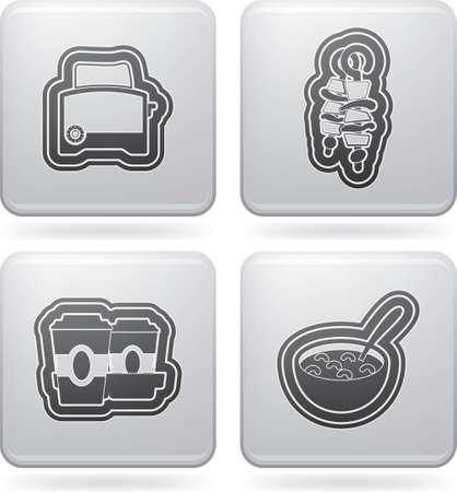 Drink   food icons set