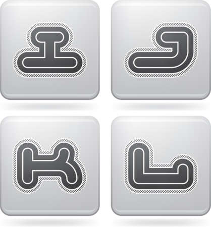 custom letters: Custom made modern capital letters   digits   I, J, K L