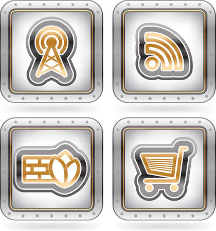 Web icons Stock Vector - 16157172