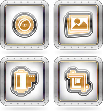 Photography Icons Set Stock Vector - 16157156