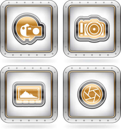 Photography Icons Set Stock Vector - 16157155