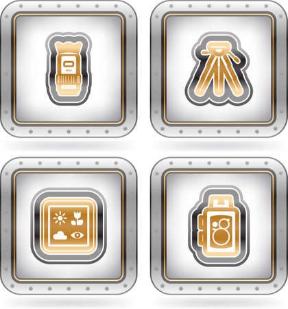 Photography Icons Set Vector