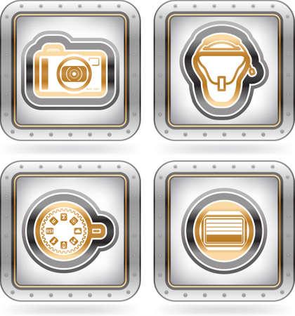 photo hardware: Photography Icons Set Illustration