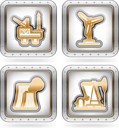 Industry Icons Stock Vector - 16157162