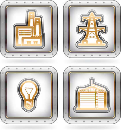 Industry Icons Stock Vector - 16157170