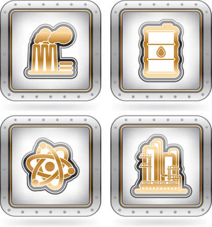 Industry Icons Stock Vector - 16157161